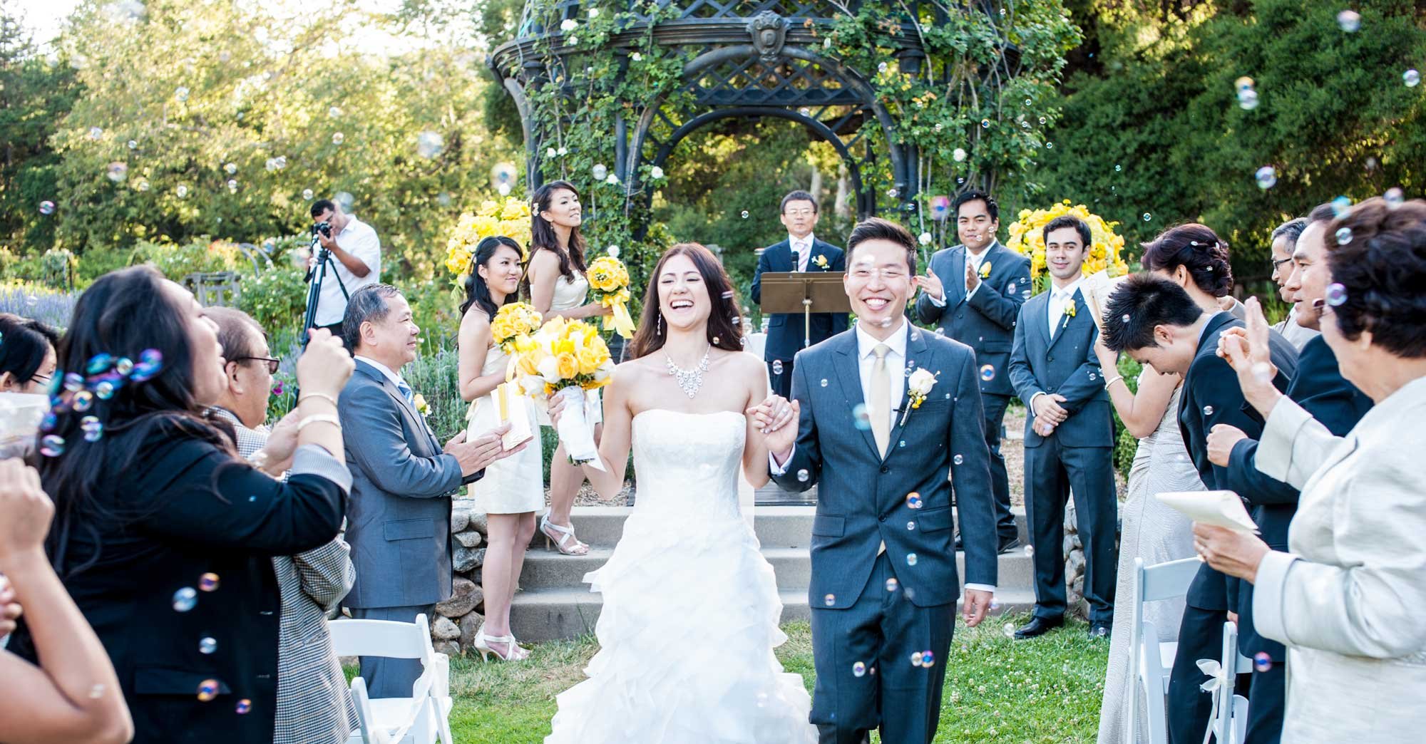 Angie & James' Descanso Gardens Wedding featured slider image