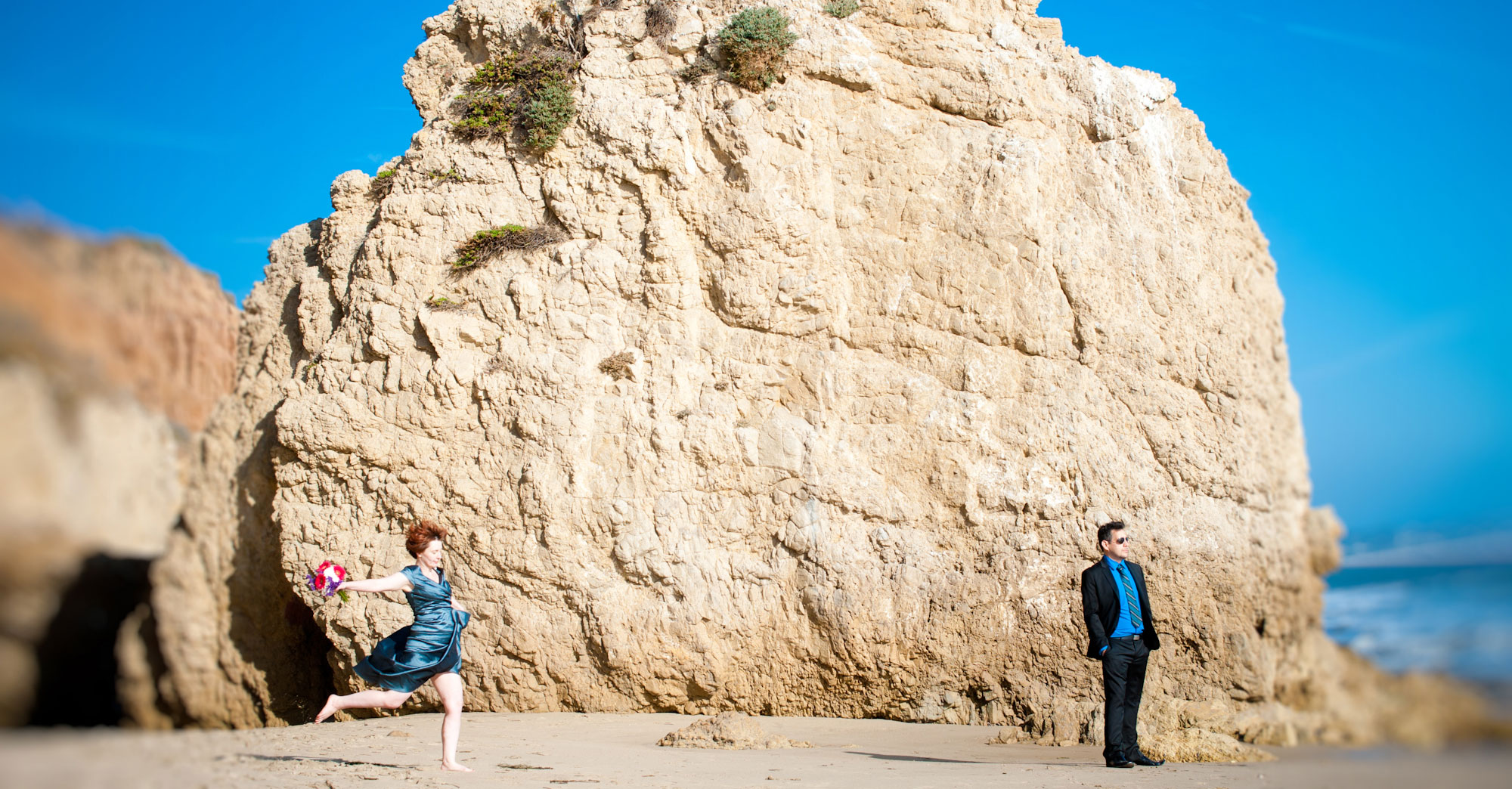 Brigid & Xavier's Malibu Beach Wedding featured slider image