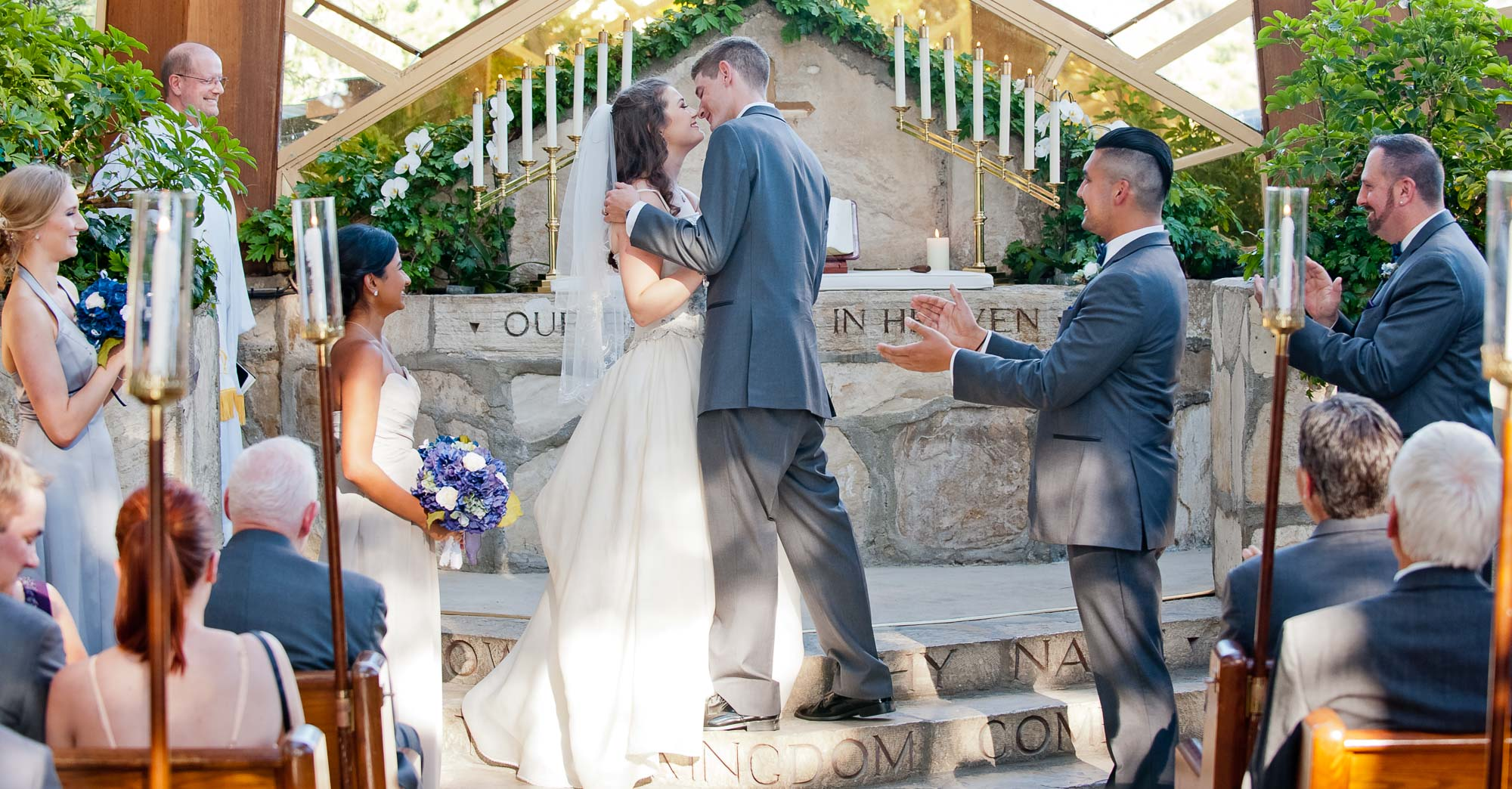 Gwen & Jerryd's Wayfarers Chapel Wedding featured slider image