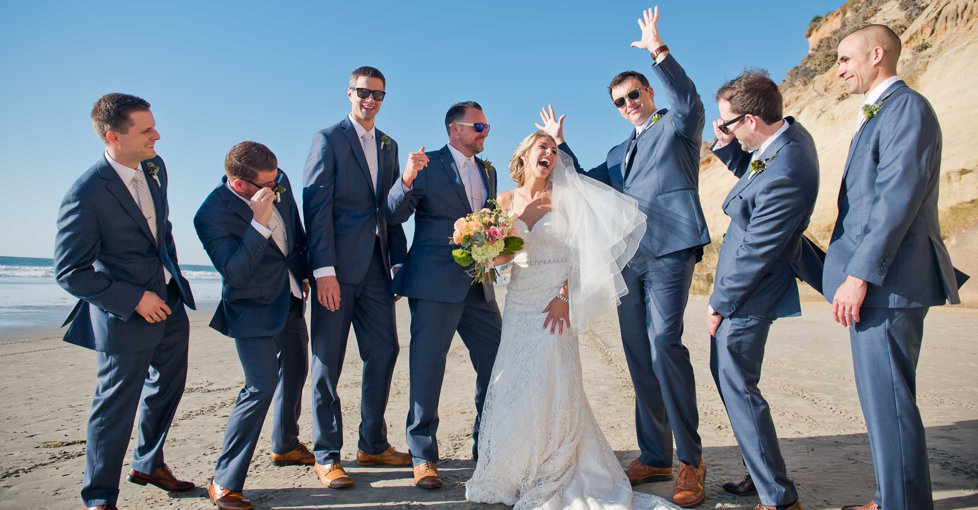 Ashley & Eric's Solana Beach Wedding featured slider image