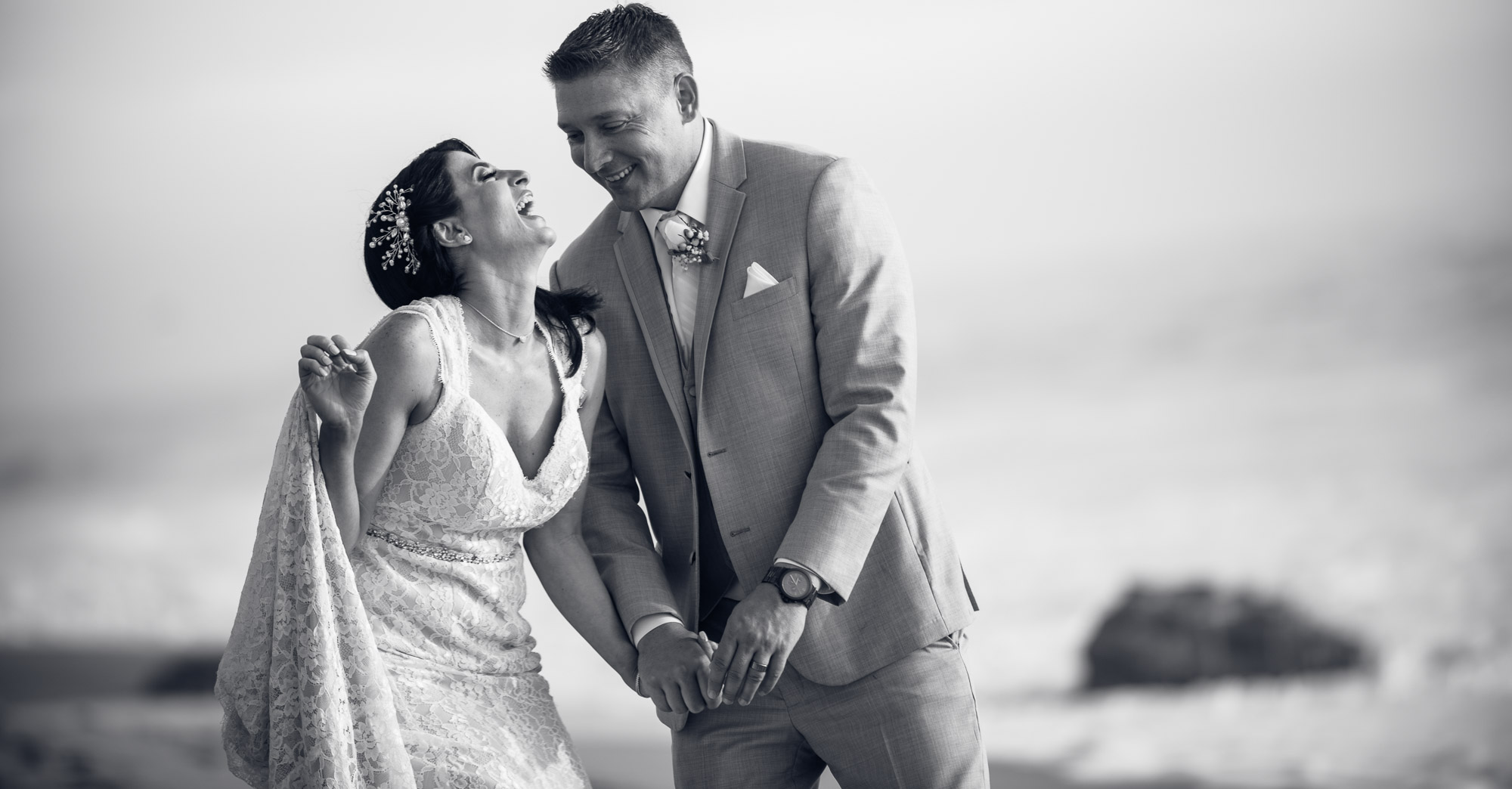 Laura & Danny's – The Sunset Restaurant Beach Wedding Malibu featured slider image